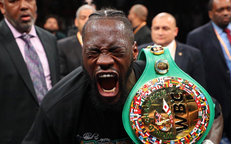 Шампионът на WBC в тежка категория Дионтей Уайлдър не се