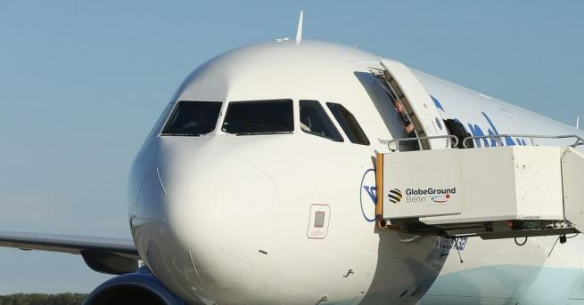 Самолетът на германския външен министър Хайко Маас, който пристига на