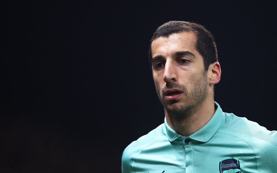 Арменският полузащитник на Арсенал Хенрих Мхитарян няма да участва в