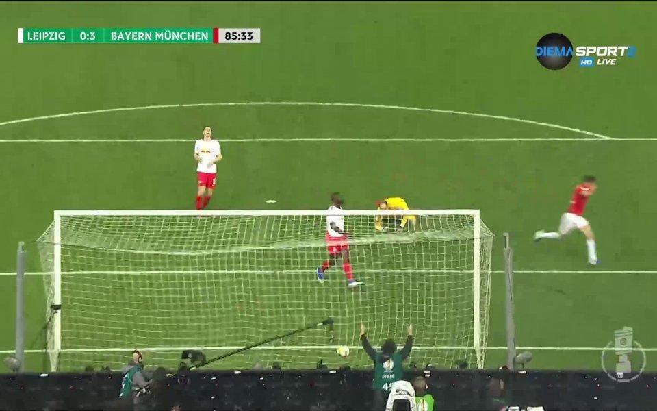 В 86-ата минута на двубоя между Байерн Мюнхен и РБ