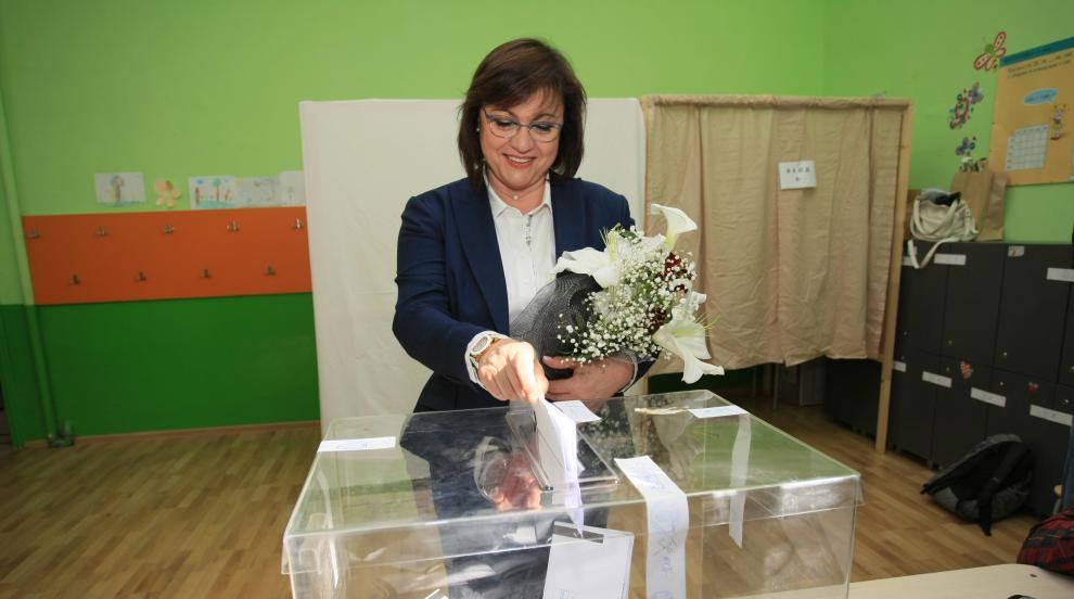 Доган и Нинова упражниха правото си на глас в евровота (СНИМКИ)