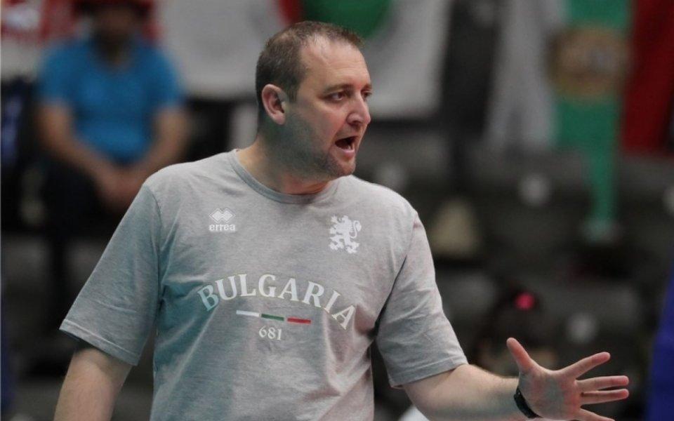 Селекционерът на българския национален отбор по волейбол Иван Петков е