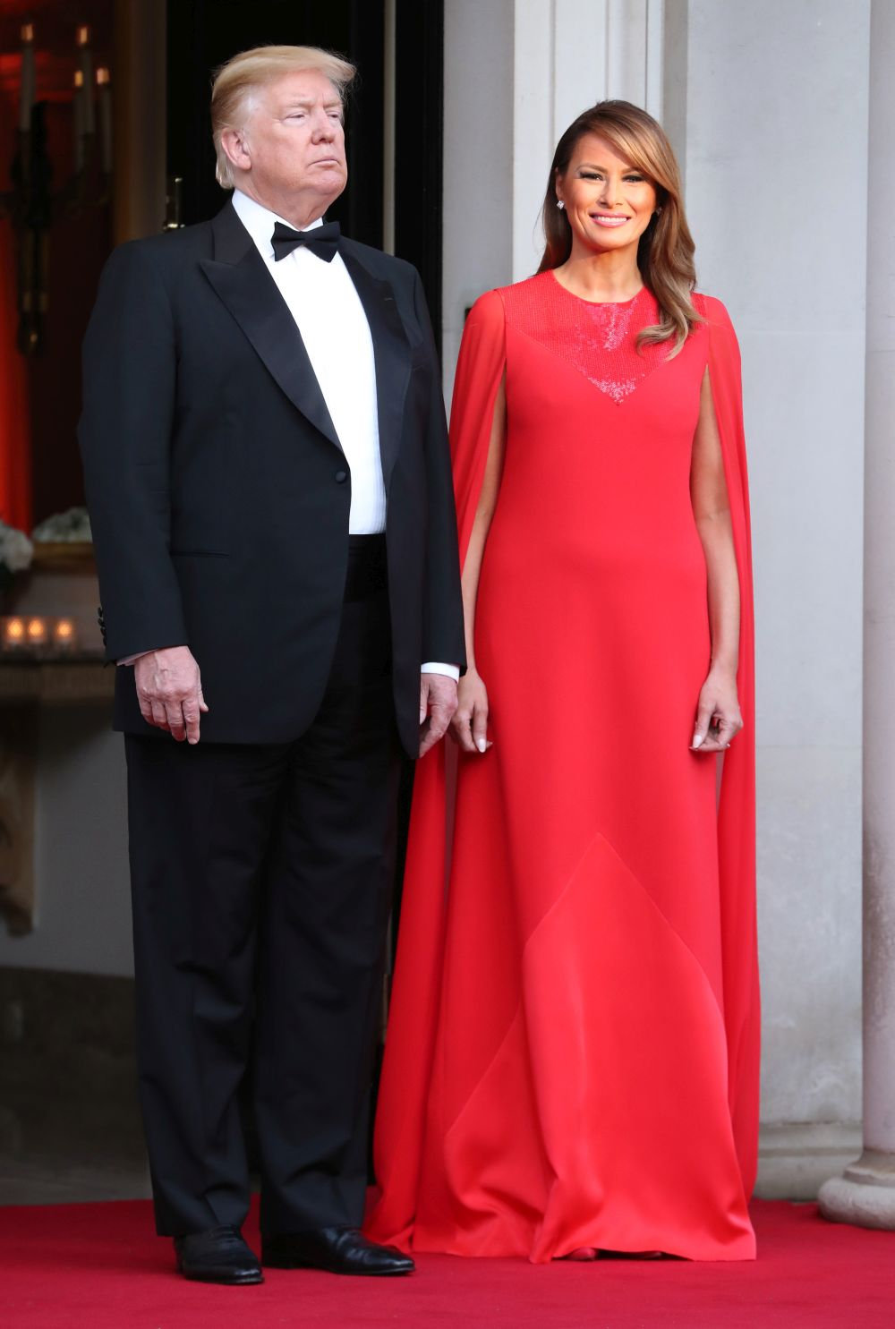 Червената рокля на Мелания Тръмп