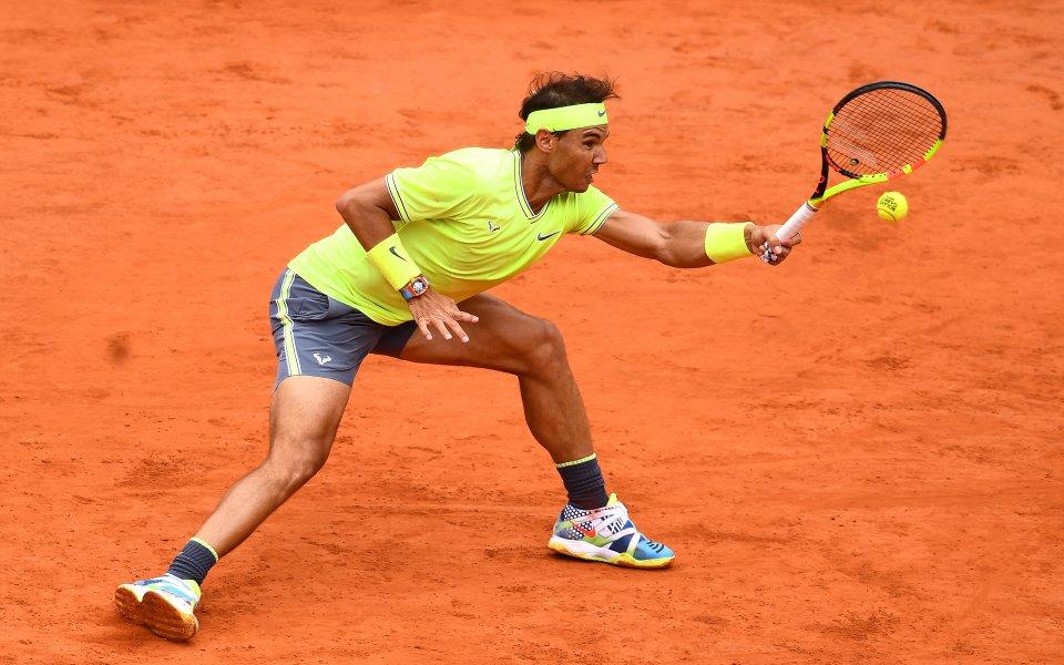Испанецът Рафаел Надал, който се класира за 12-ия си финал
