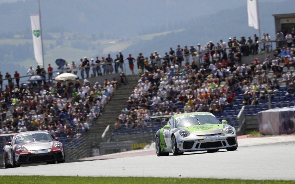 Георги Дончев с подиум на Porsche Carrera Cup