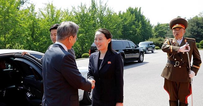 Сестрата на севернокорейския лидер Ким Чен-ун ще посети днес демилитаризираната