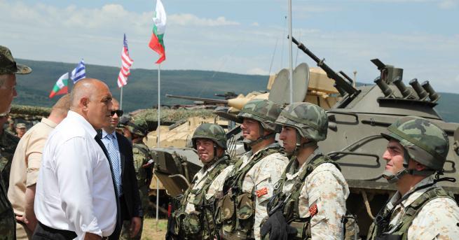 Премиерът Бойко Борисов наблюдава тактическите занятия Ответен удар – 2019