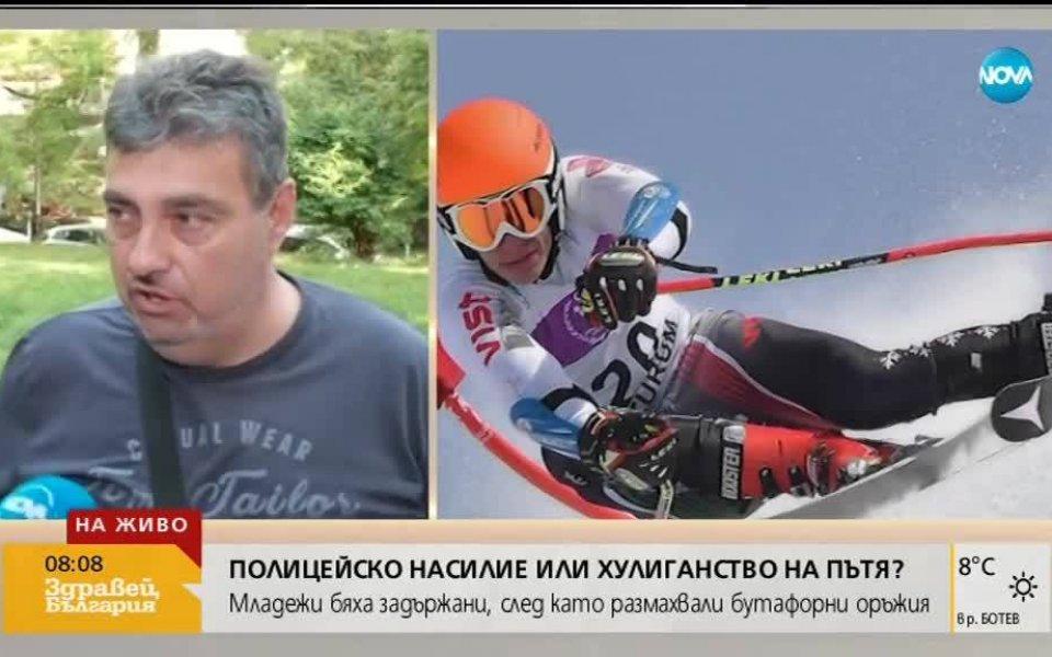 Националният състезател по ски алпийски дисциплини Кристиян Ляпев и Илиян