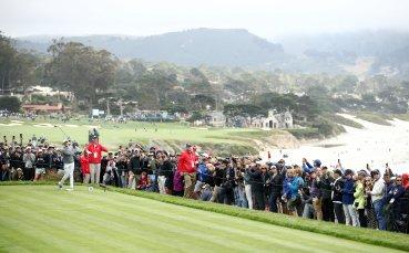 Неуправляема голф количка рани петима зрители на US Open