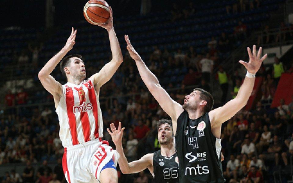 Цървена звезда защити титлата си в Сърбия с кош в последните секунди
