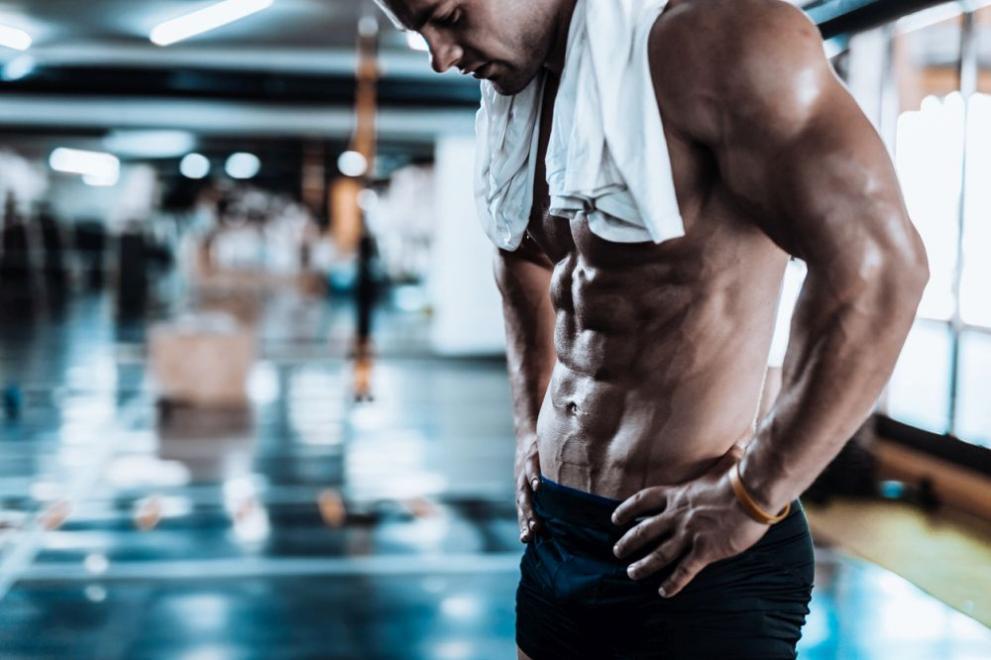 Фитнес мъж плочки