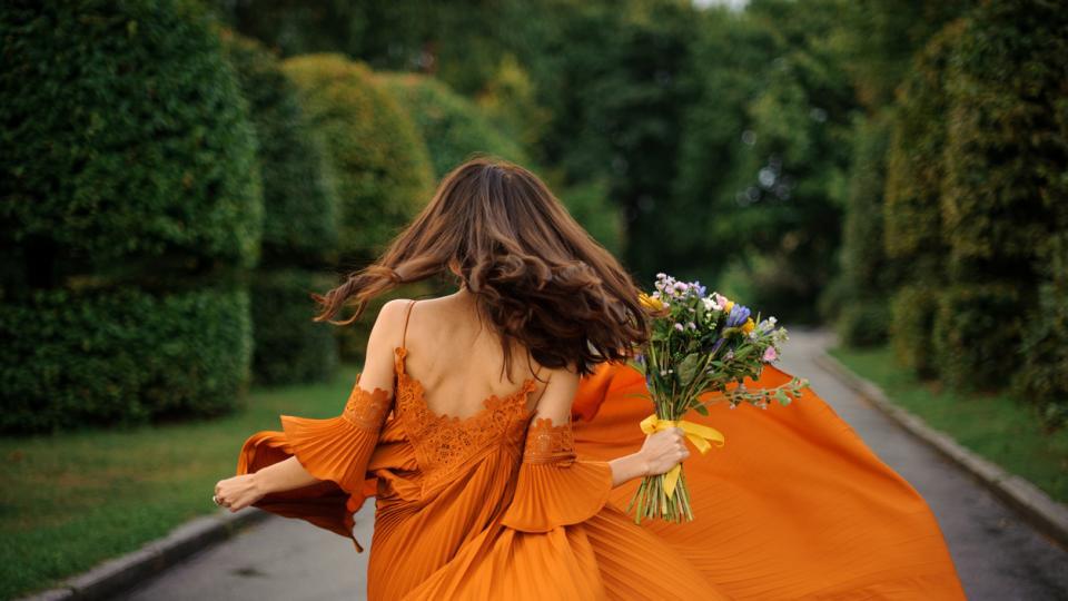 мода оранжево