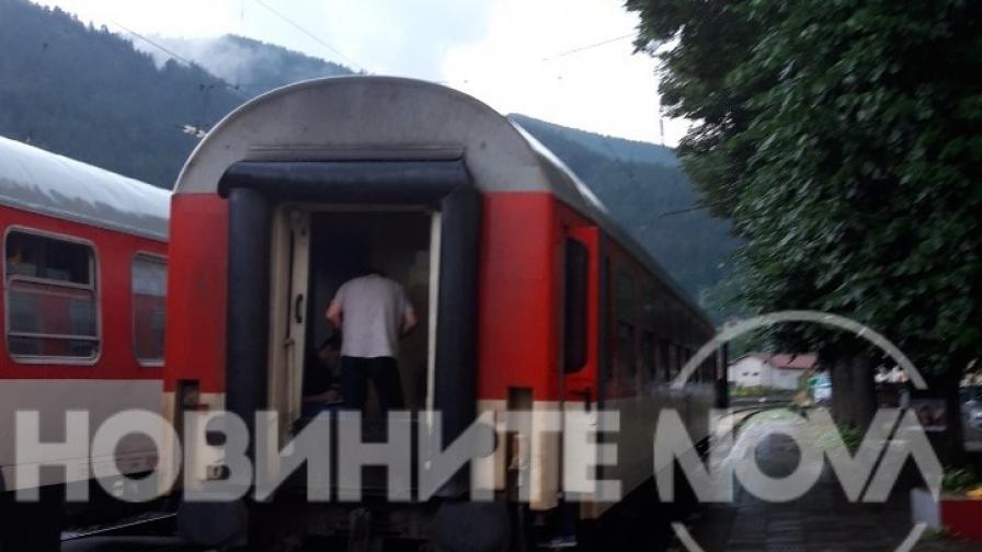 Пожар във влака София-Варна