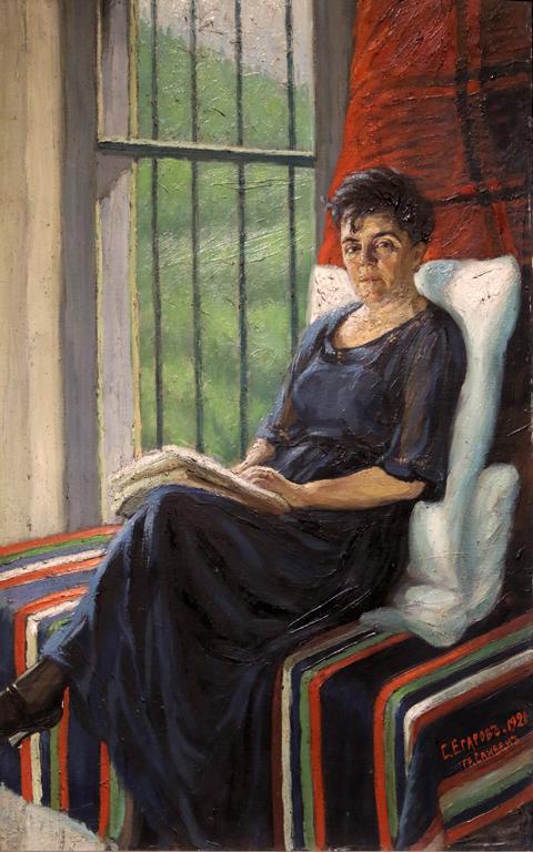 Стефан Егаров Жената на художника 1921г.