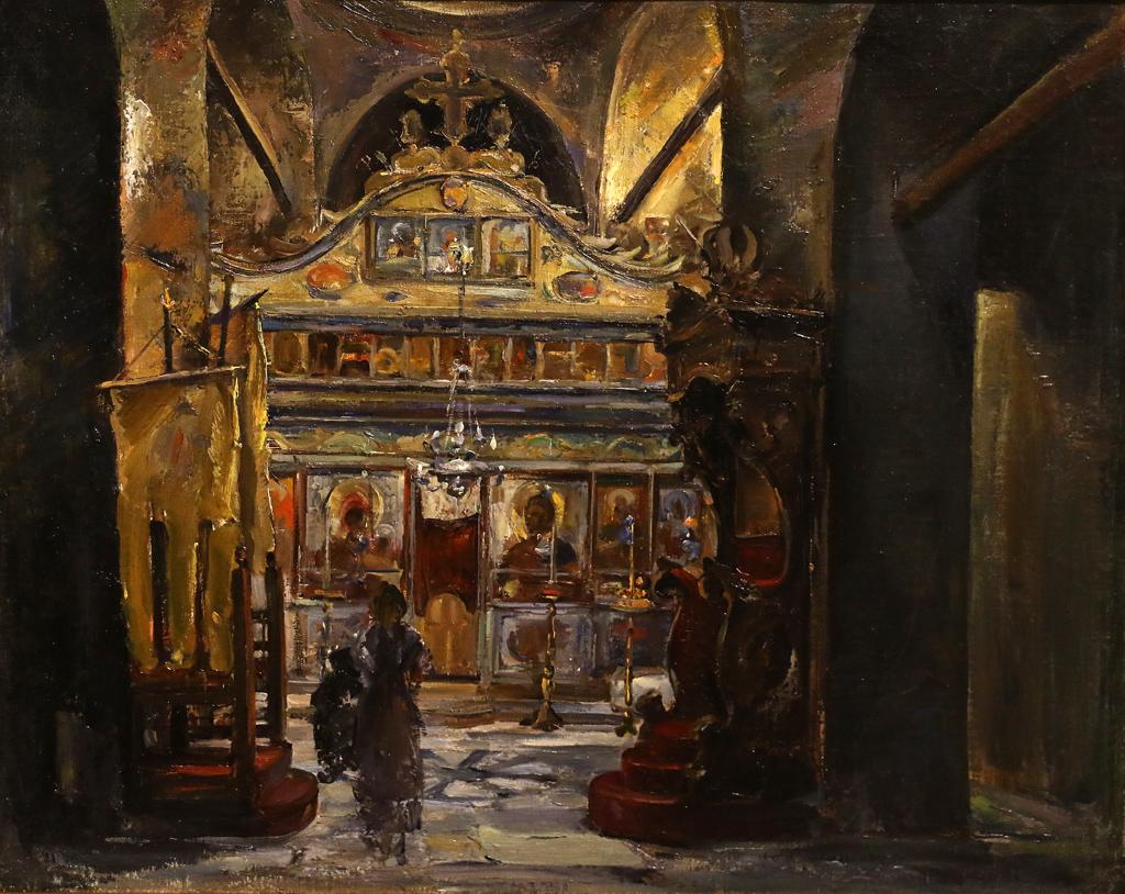 Нягул Станчев Интериор на църква 1920г.
