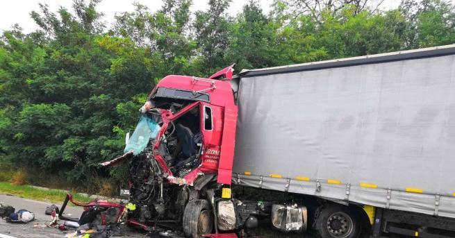 Шофьор загина при тежка катастрофа. Инцидентът е възникнал тази сутрин