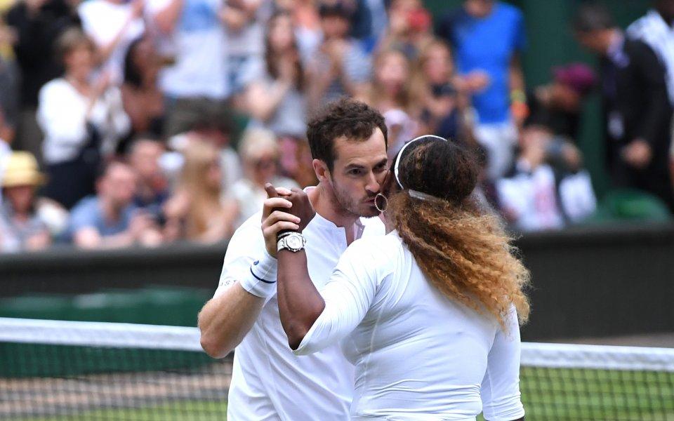 Убедителни Мъри и Серина се класираха за трети кръг на двойки