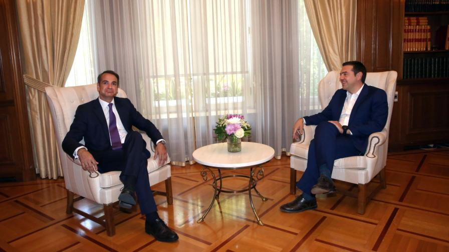 Кириакос Мицотакис и Алексис Ципрас