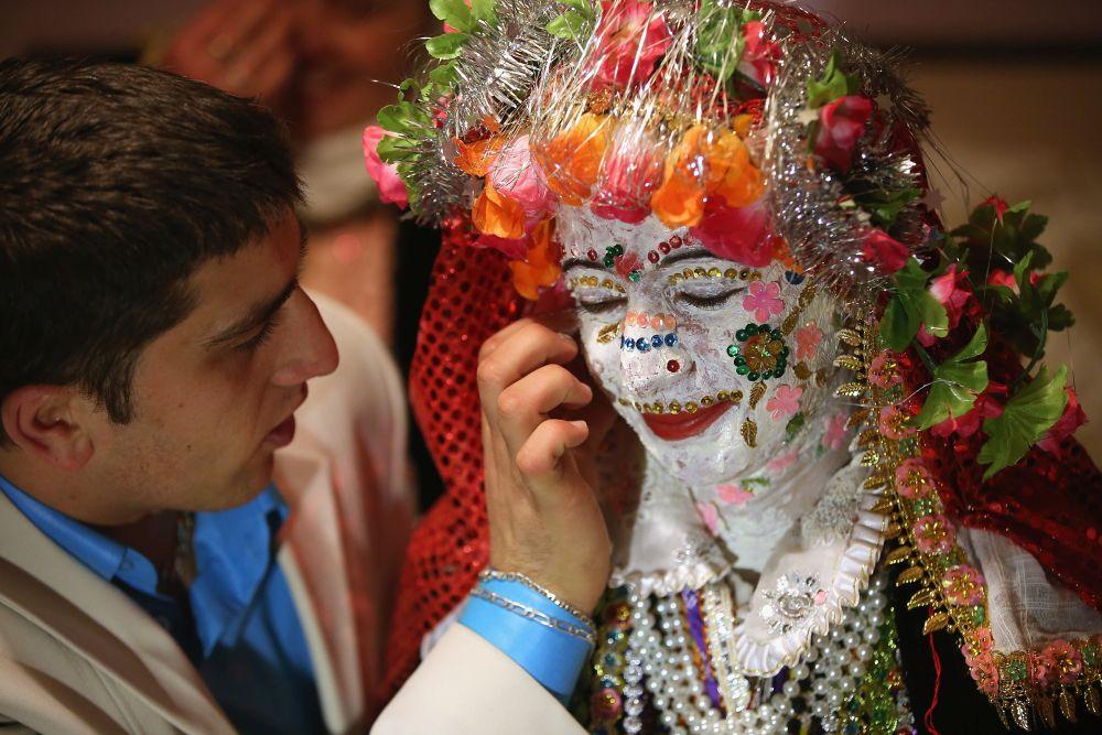 Младоженци в Рибново.