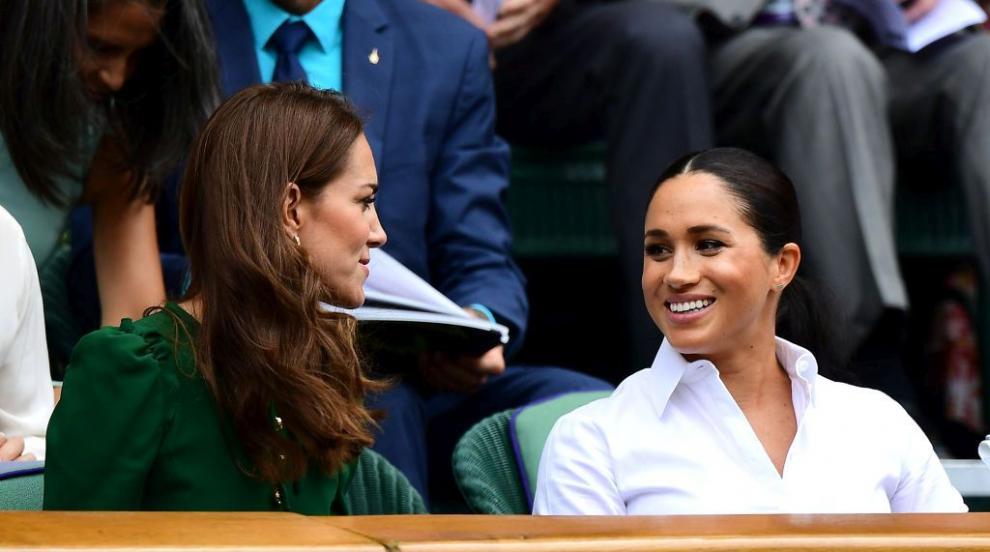 Херцогините Кейт и Меган показаха, че не са скарани (СНИМКИ)