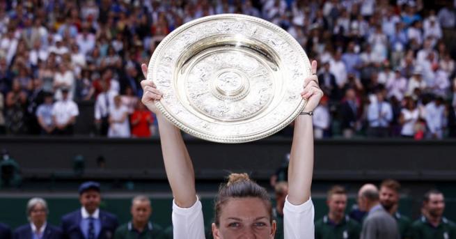 Симона Халеп е новата носителка на трофея от Уимбълдън. Румънката