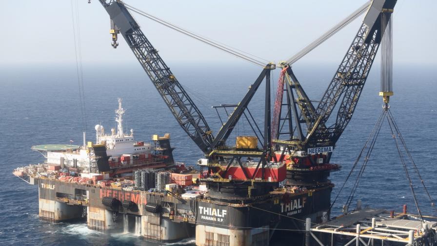 Платформа на находището Левиатан в Средиземно море
