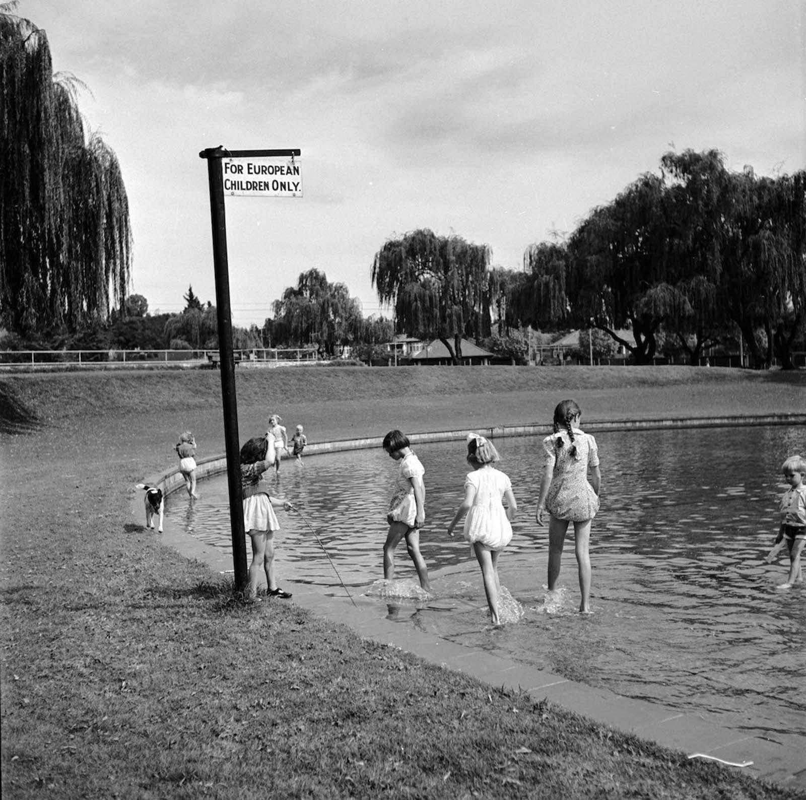 <p>1956, &quot;Само за европейски деца&quot;.</p>
