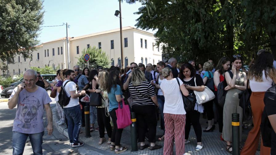 Земетресение и вторични трусове в Гърция