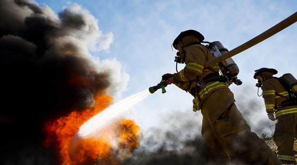 Голям пожар гори край село Реброво, има опасност за хората (ВИДЕО)