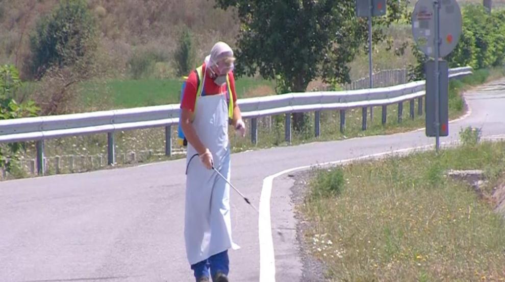 """Дезинфекцират участък от магистрала """"Марица"""" преди..."""