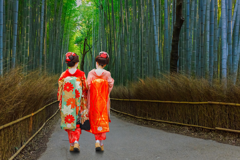 <p>Бамбуковите гори Арашияма, Киото.&nbsp;</p>