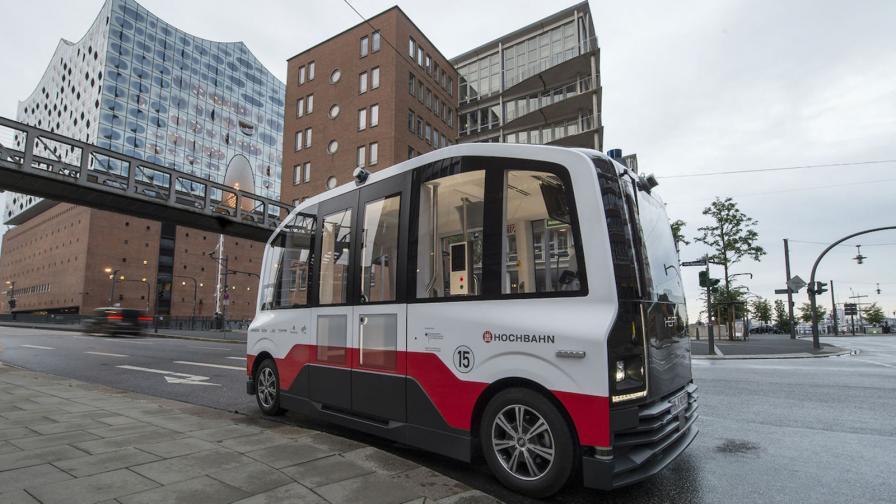 <p>В Хамбург тръгва автономен електрически шатъл</p>