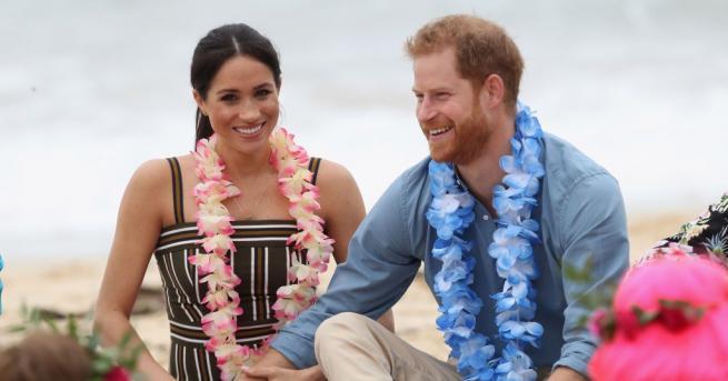 Восъчните фигури на принц Хари и съпругата му Меган Маркъл