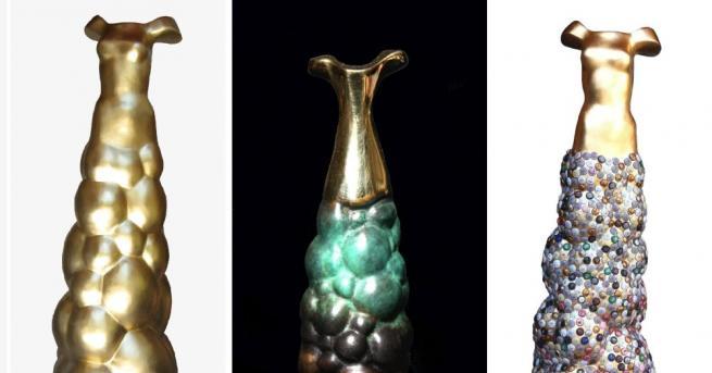 Снимка: Скулптури с дъх на шампанско