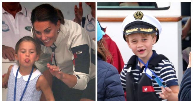 Снимка: Кралски щуротии: принц Джордж без зъби, а принцеса Шарлот се плези