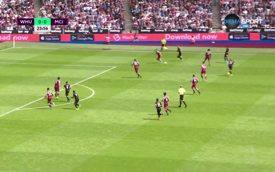 Шампионът Манчестър Сити поведе с 1:0 при гостуването си на