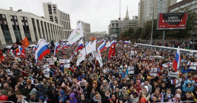 Сто и тринайсет души са били задържани при протеста на