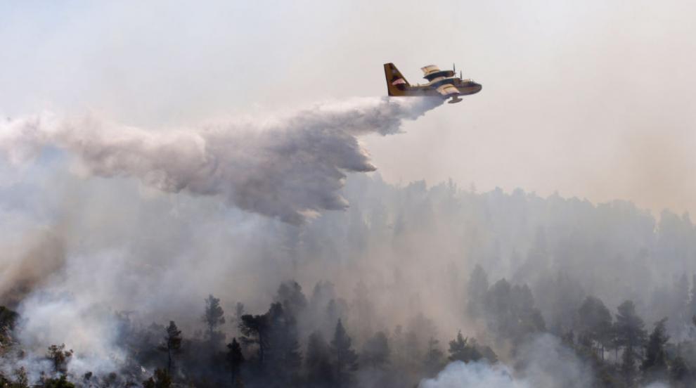 Огнен ад: Евакуират туристи от остров Самос заради горски пожар (СНИМКИ)