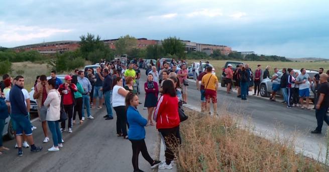 Снимка: Протест край Шишманци, искат референдум