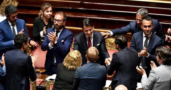 Новото ляво коалиционно правителство на Италия спечели вот на доверие