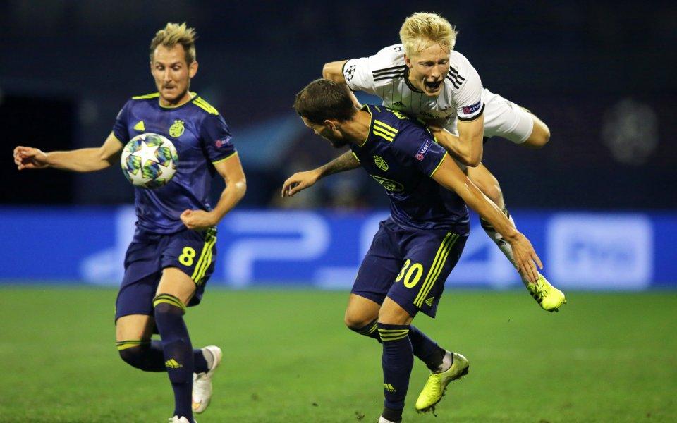 Отборът на Динамо Загреб победи Розенборг в първи сблъсък от