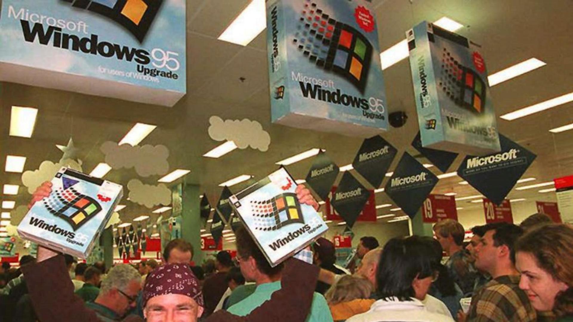 24 август 1995: Истерията около Windows 95