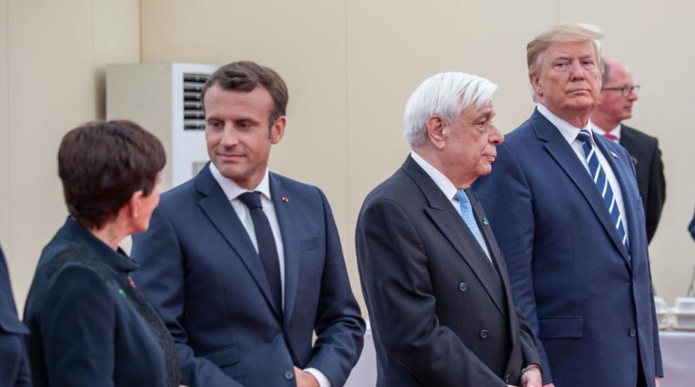 Макрон и Тръмп разговаряха на импровизиран обяд преди срещата на Г-7 (ВИДЕО)