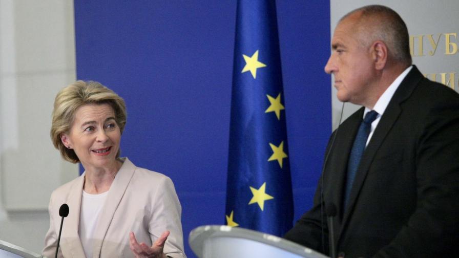 Урсула фон дер Лайен впечатлена от икономическия растеж в България