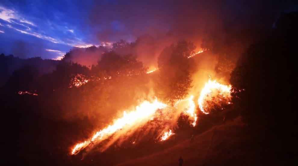 Пожар между селата Брягово и Искра