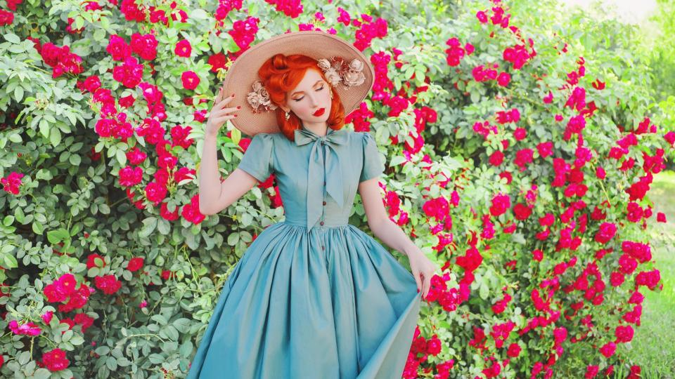 жена цветя сезон
