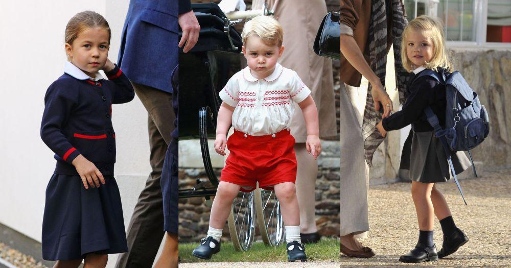 Британската принцеса Шарлот, брат й - принц Джордж и испанската принцеса София