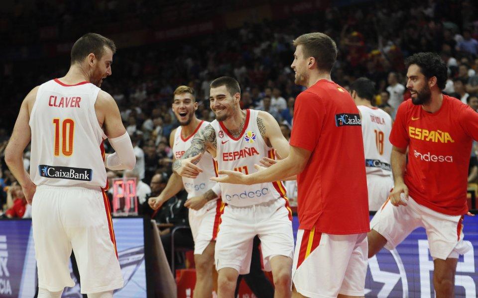 Испания постигна пета поредна победа на Световното първенство по баскетбол