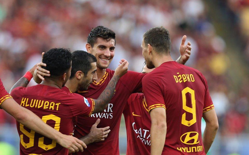 Рома разпиля Сасуоло, Мхитарян дебютира с гол
