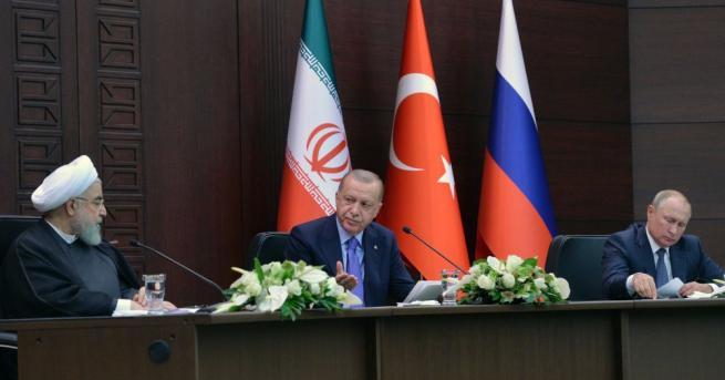Тристранната среща на върха между лидерите на Русия, Иран и